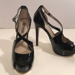 INC Patent Leather Heels With Crisscrossed Straps